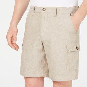 "Tasso Elba Men's Linen Blend 9"" Cargo Shorts"